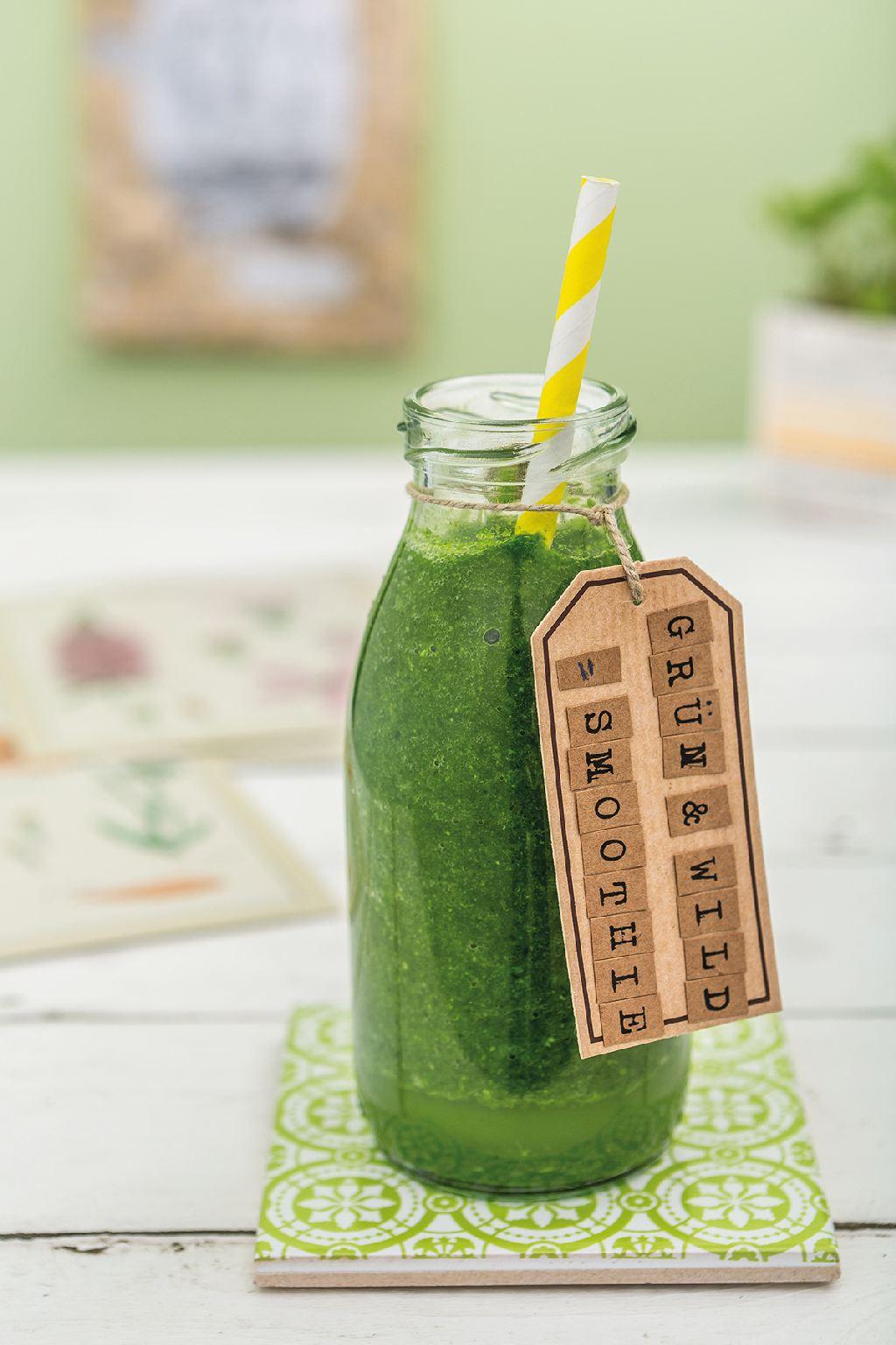 Eine grüne Smoothie Flasche (Grüner Smoothie)