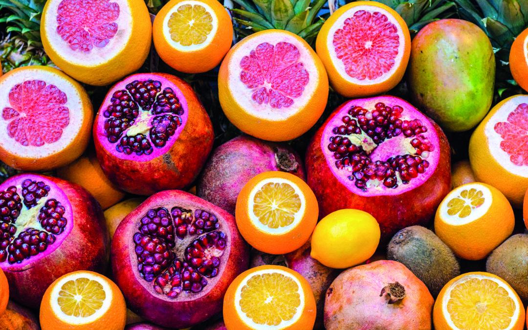 Grapefruit, Orangen, Zitronen und Kiwis – gesunde Lebensmittel