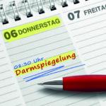 """Darmkrebs vorbeugen: Ein Kalender mit dem Termin """"Darmspiegelung"""""""